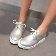 Load image into Gallery viewer, Lace Up Women Flats Casual Shoes