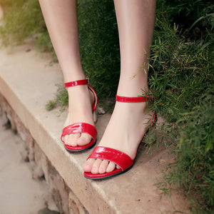 Fashion Ankle Straps Sandals Pumps Platform High Heels Women Dress Shoes 6609