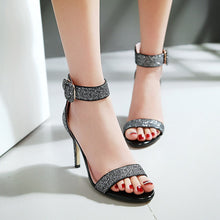 Load image into Gallery viewer, Summer Buckle Sandals Pumps High-heeled Spike Shoes Woman