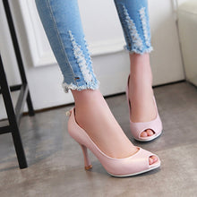 Load image into Gallery viewer, Womens High Heel Shoes Lady Pumps Peep Toes Sandals Party Dress Shoes
