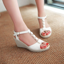 Load image into Gallery viewer, Summer T Straps Wedges Women Sandals Platform Pumps High Heels Shoes 2016 5230