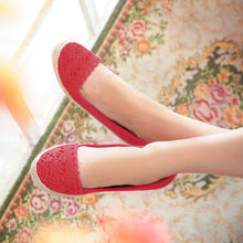 Load image into Gallery viewer, Knit Women Flats Round Toe Shoes Loafers