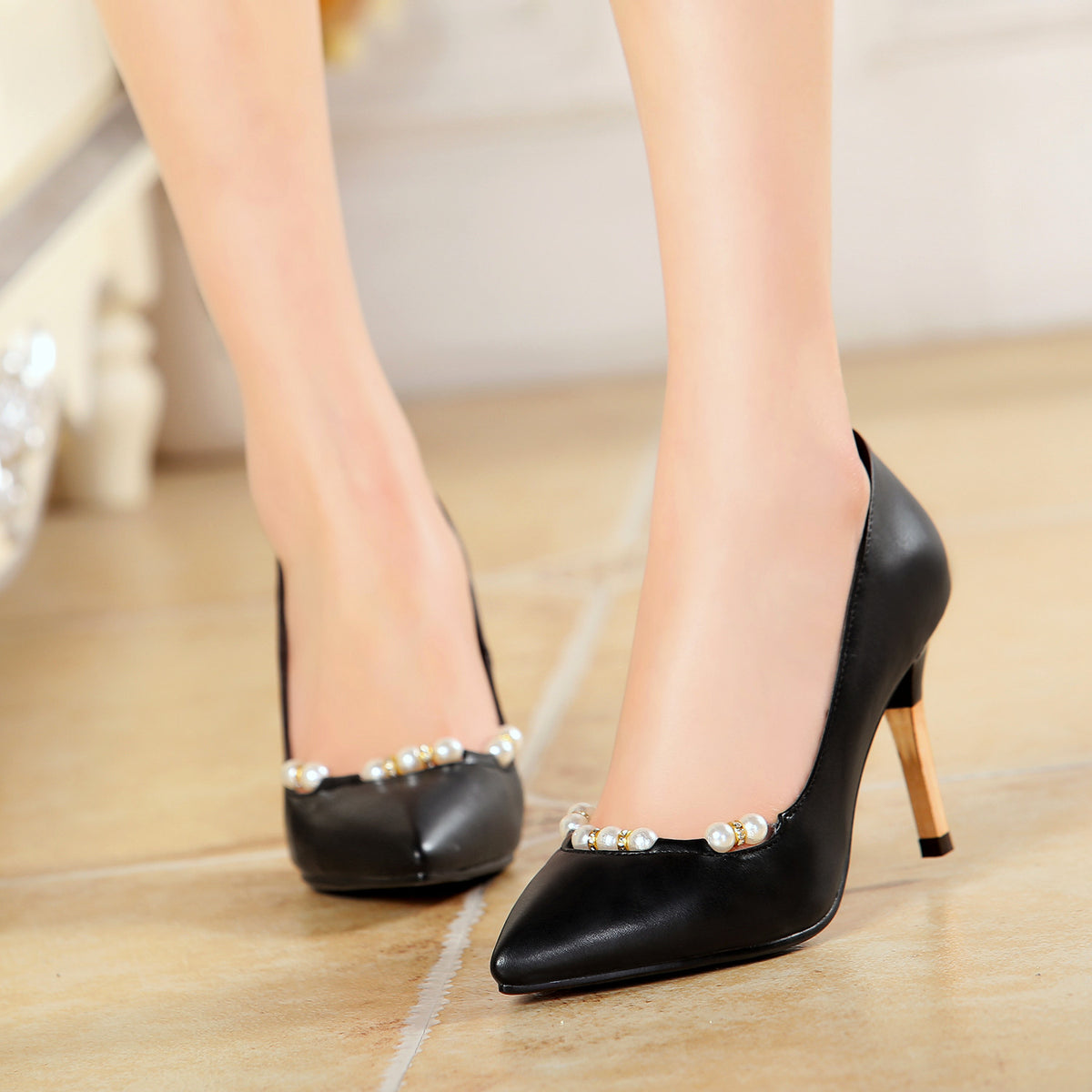 New Nice Fashion Sexy High Heels Shoes Woman Pumps Party