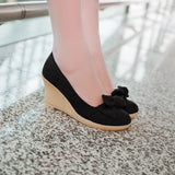 Bow Women Wedges Platform Shoes High Heels  1465