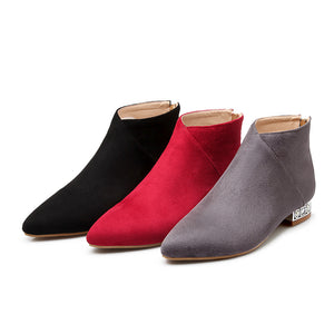Pointed Toe Ankle Boots Women Shoes Fall|Winter 6790