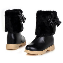 Load image into Gallery viewer, Bowtie Snow Boots Winter Platform Shoes Woman 3276 3276