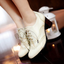 Load image into Gallery viewer, Lace Up Oxfords Women Pumps Lace Up High Heels Shoes Woman