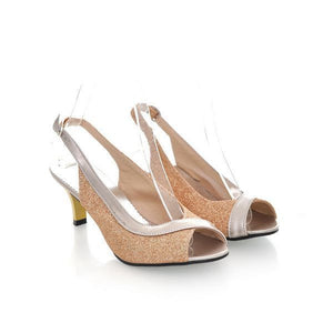 Slingbacks Peep Toe Sandals Spike Shoes Women  1608