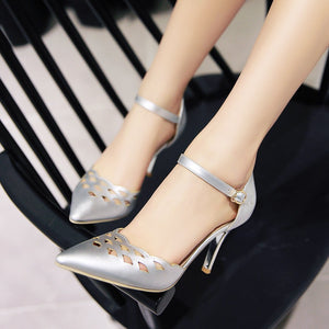 Party Sandals Pumps Spike High-heeled Shoes Woman
