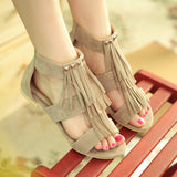 Tassel Gladiator Sandals with Studded Women Shoes