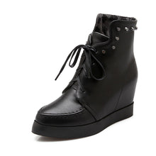 Load image into Gallery viewer, Studded Wedges Boots Women Shoes New Arrival