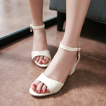 Load image into Gallery viewer, Women's Pumps Ankle Straps High Heels Sandals Dress Shoes