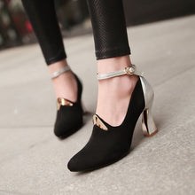 Load image into Gallery viewer, Ankle Straps Women Pumps High Heels Sequined Shoes Woman