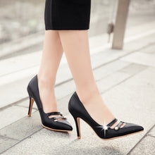 Load image into Gallery viewer, Pointed Toe Womens Stiletto High Heel Ladies Pumps Party Shoes