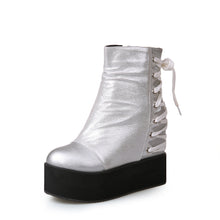 Load image into Gallery viewer, Wedges Boots Back Lace Up Women Shoes Fall|Winter 6440