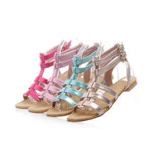 Fashion Gladiator Sandals Women Flats Shoes 9924