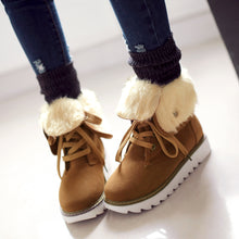 Load image into Gallery viewer, Lace Up Snow Boots Women Shoes Winter 2622