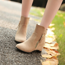 Load image into Gallery viewer, Zipper Ankle Boots Wedges Women Shoes Fall|Winter 4320