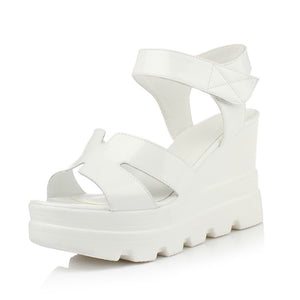 Women Sandals Candy Color Wedges Platform High-heeled Shoes