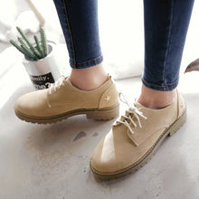 Load image into Gallery viewer, Star Pattern Suede Women Low Chunky Heel Oxfords Shoes 7409