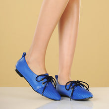 Load image into Gallery viewer, Pointed Toe Lace Up Women Flats Casual Shoes 6485