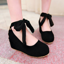 Load image into Gallery viewer, Flock Women Wedges High Heels Platform Shoes 6810
