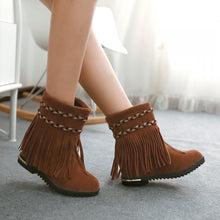Load image into Gallery viewer, Tassel Women Ankle Boots Round Toe Shoes Woman 2016 3477