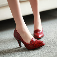 Load image into Gallery viewer, Stone Printed Women Pumps High Heels Dress Shoes 4680