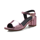 Ankle Straps Sandals Ladies Pumps High-heeled Shoes