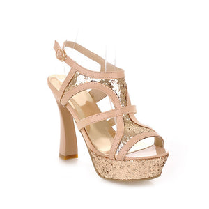 Sequin-High-Heels-Sandals-Women-Pumps-Platform-Shoes 8897