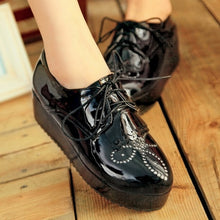 Load image into Gallery viewer, Tassel Platform Shoes Lace Up Harajuku Women Wedges