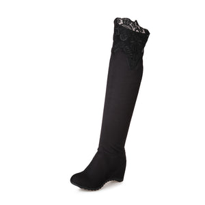 Lace Over the Knee Boots Women Shoes Fall|Winter 6044