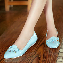 Load image into Gallery viewer, Women Flats Knot Wedges Pointed Toe Jelly Shoes Woman 3434