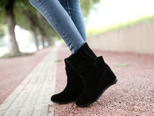 Load image into Gallery viewer, Knot Women Wedges Ankle Boots Artificial Suede Shoes Woman 2016 3375