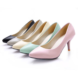 Pointed Toe Pumps High Heels Women Spike Shoes 6660