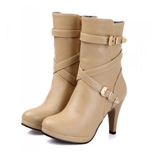 Load image into Gallery viewer, Buckle Platform Boots High Heels Shoes 8253