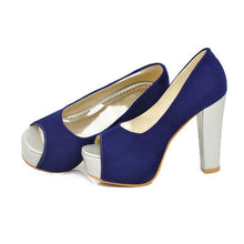 Load image into Gallery viewer, Peep Toes Women Pumps Platform Mixed Colors High Heels Shoes Woman