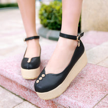 Load image into Gallery viewer, Women Wedges High Heels Platform Shoes 1828