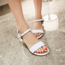 Load image into Gallery viewer, Ankle Straps Flower Women Sandals Flats Shoes 4229