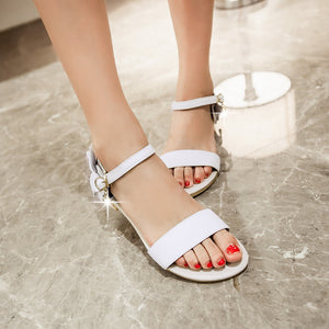 Ankle Straps Flower Women Sandals Flats Shoes 4229