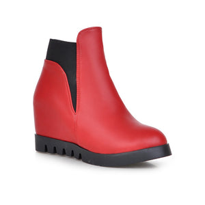 Pu Wedges Boots Women Shoes Fall|Winter 9519