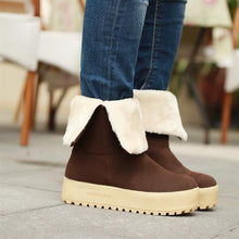 Load image into Gallery viewer, Knot Women Snow Boots Winter Fur Inside Platform Shoes Woman 2016 3474