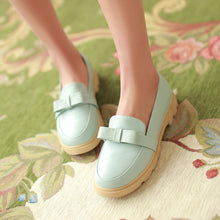 Load image into Gallery viewer, Cute Bow Low Heels Women Shoes 6419