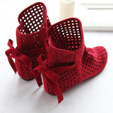 Cutout Wedege Boots Back Bow Women Shoes  5537