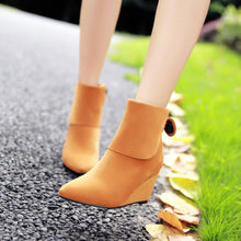 Load image into Gallery viewer, Bow Ankle Boots Wedges Shoes Fall|Winter 8907