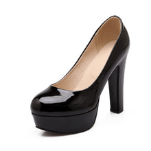 Load image into Gallery viewer, Patent Leather Pumps Platform High Heels Women Shoes 6092
