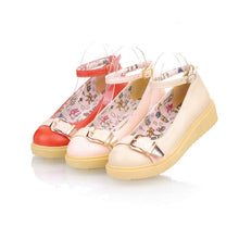Load image into Gallery viewer, Round Toe Ankle Straps Women Wedges Platform Shoes