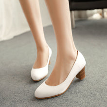 Load image into Gallery viewer, PU Leather Women Pumps High Heels Shoes Woman