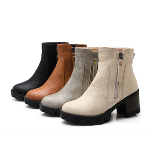 Zipper Ankle Boots High Heels Women Shoes Fall|Winter 5937