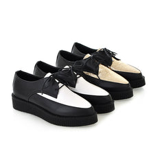 Load image into Gallery viewer, Pointed Toe Lace Up Women Pltaofrm Shoes 9768